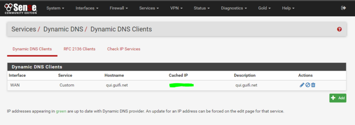 pfSense Dynamic DNS